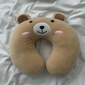 Teddy bear travel pillow 💕